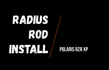 Radius Rod Install on Polaris